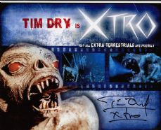 "P77TD TIM DRY SIGNED ""EXTRO"" HORROR 10X8 PHOTO"